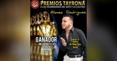 Cantante Alonso Rodríguez, hijo adoptivo de Ciénaga, mejor Artista Tropical en Premios Tayrona 2020