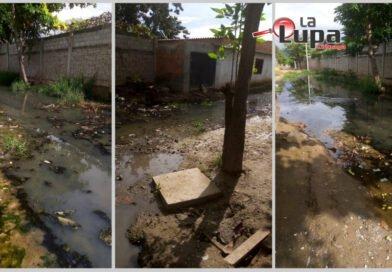 """Aguas fétidas detrás del colegio Enoc Mendoza """"caldo de cultivo"""" para enfermedades"""